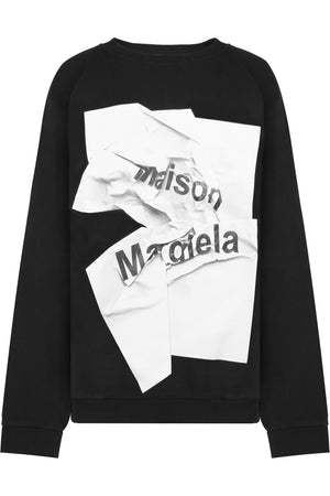 PAPER LOGO SWEATER BLACK