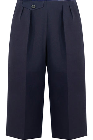 LONGLINE TAILORED SHORTS NAVY