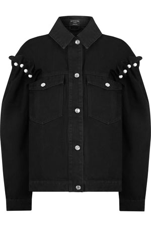 BRENNON DENIM JACKET BLACK