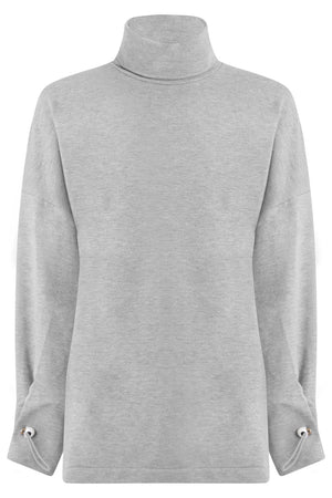 AMINA TURTLENECK TOP L/S GREY