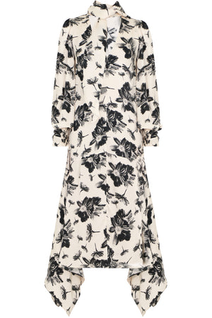 ROSALYN FLORAL PRINT DRESS L/S IVORY
