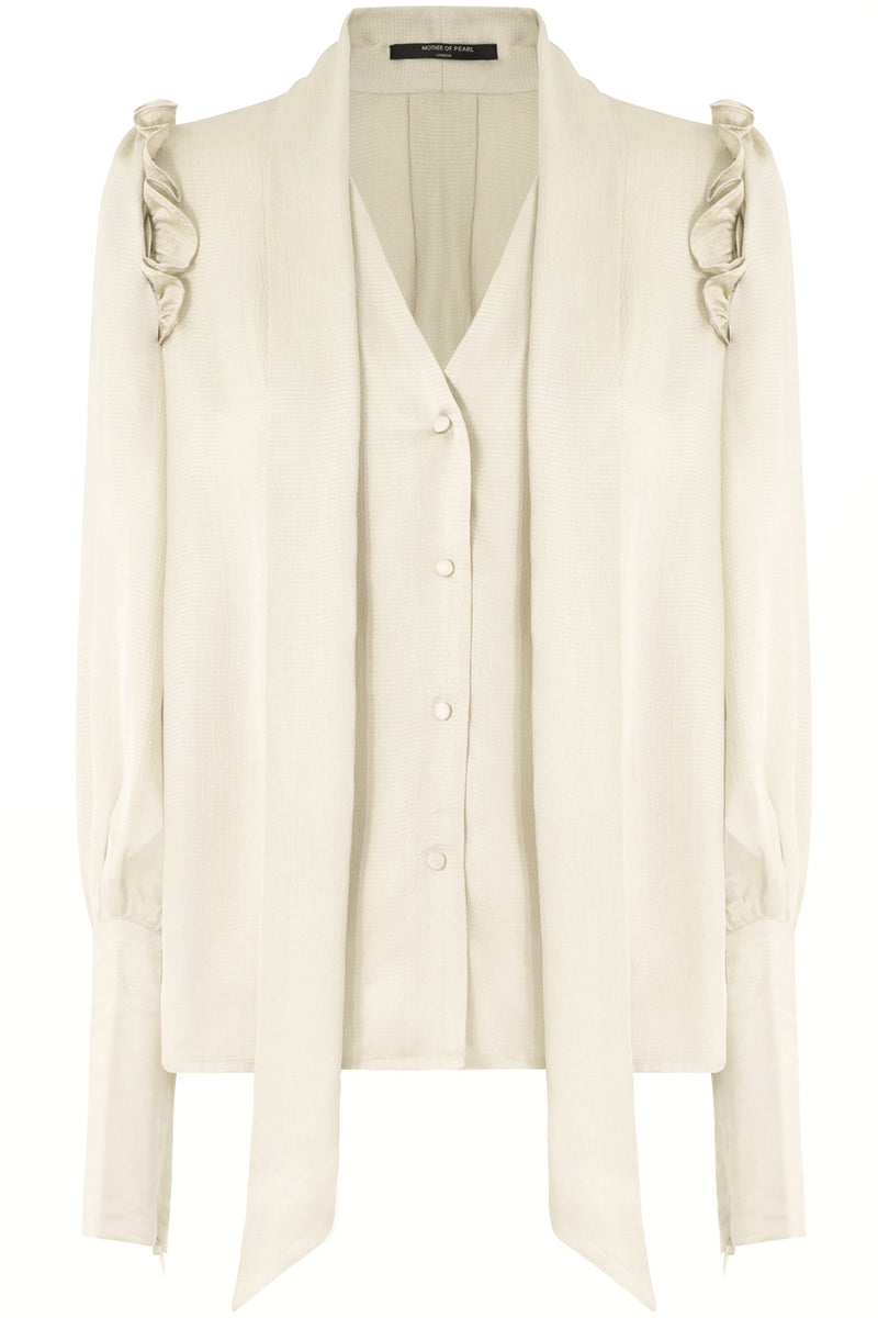 CLARA PUFF SLEEVE BLOUSE L/S IVORY