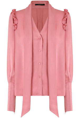 CLARA PUFF SLEEVE BLOUSE L/S PINK