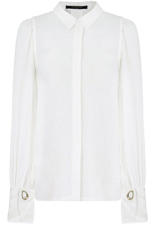 NATALIE CUFFED BLOUSE L/S IVORY