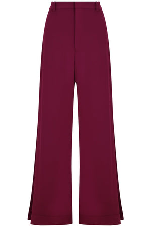 FLUID SPLIT LEG PANTS RASPBERRY