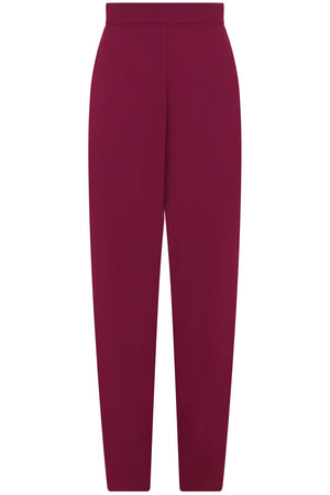FLUID RELAXED SLIM LEG PANTS RASPBERRY