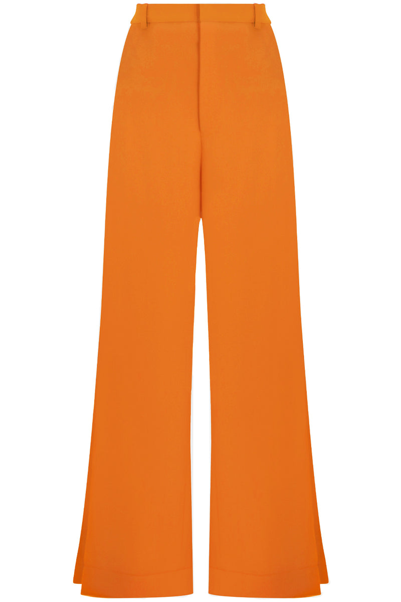 FLUID SPLIT LEG PANTS ORANGE