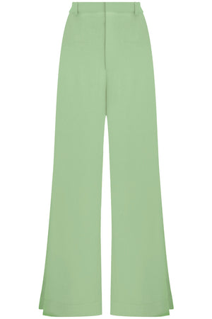 FLUID SPLIT LEG PANTS SAGE
