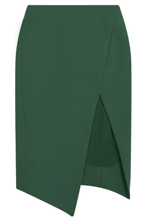 TISSUE SPLIT PENCIL SKIRT KHAKI