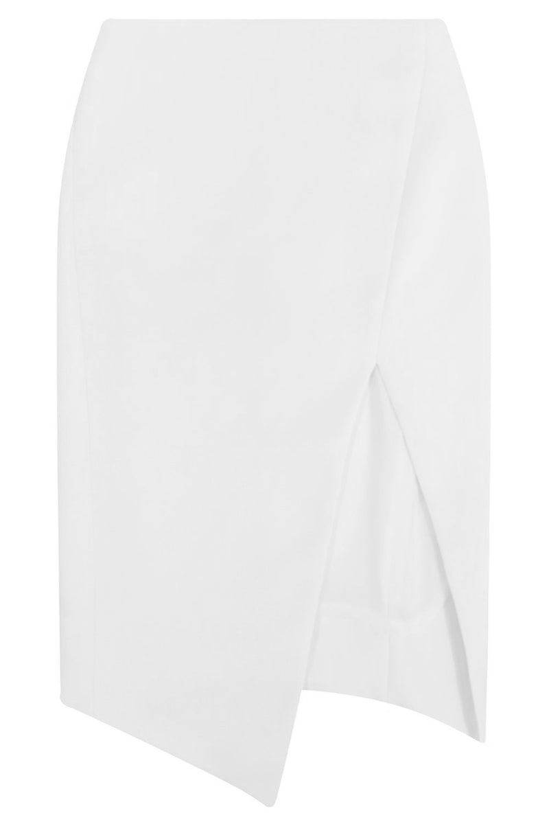 TISSUE SPLIT PENCIL SKIRT IVORY