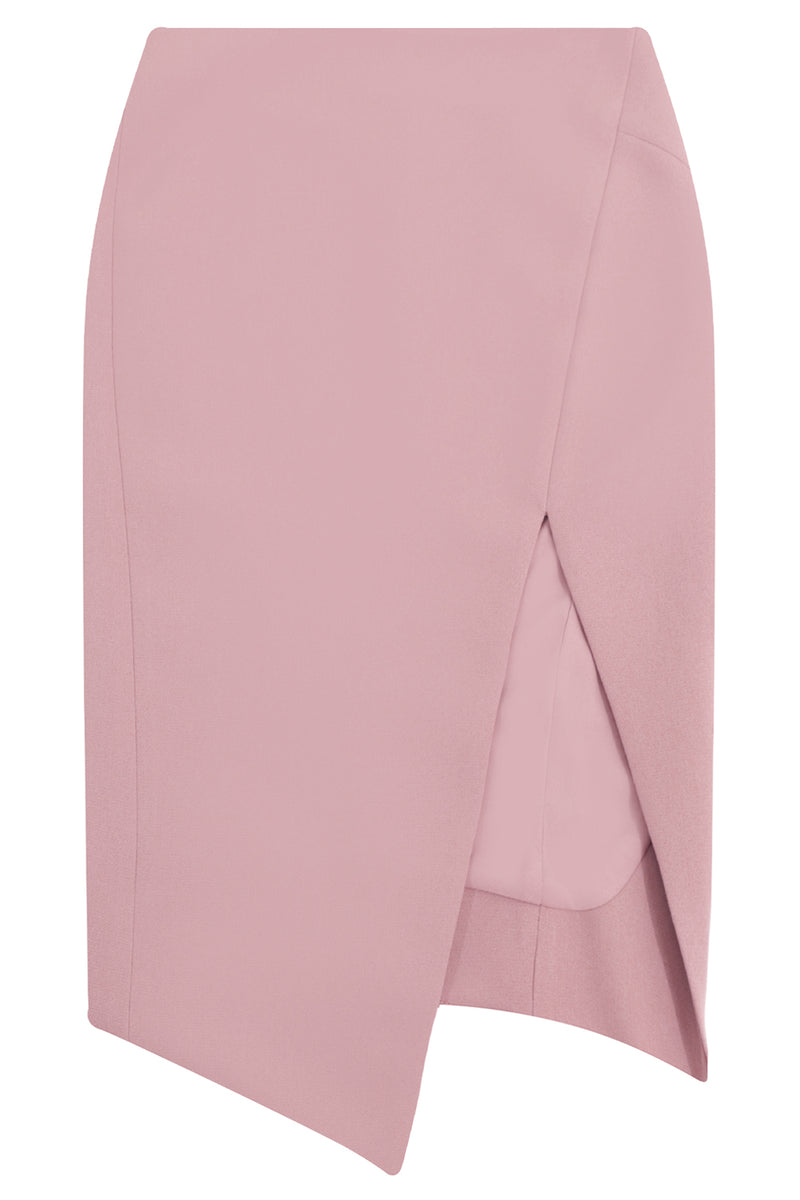 TISSUE SPLIT PENCIL SKIRT PINK