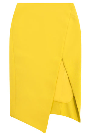 TISSUE SPLIT PENCIL SKIRT SUNFLOWER