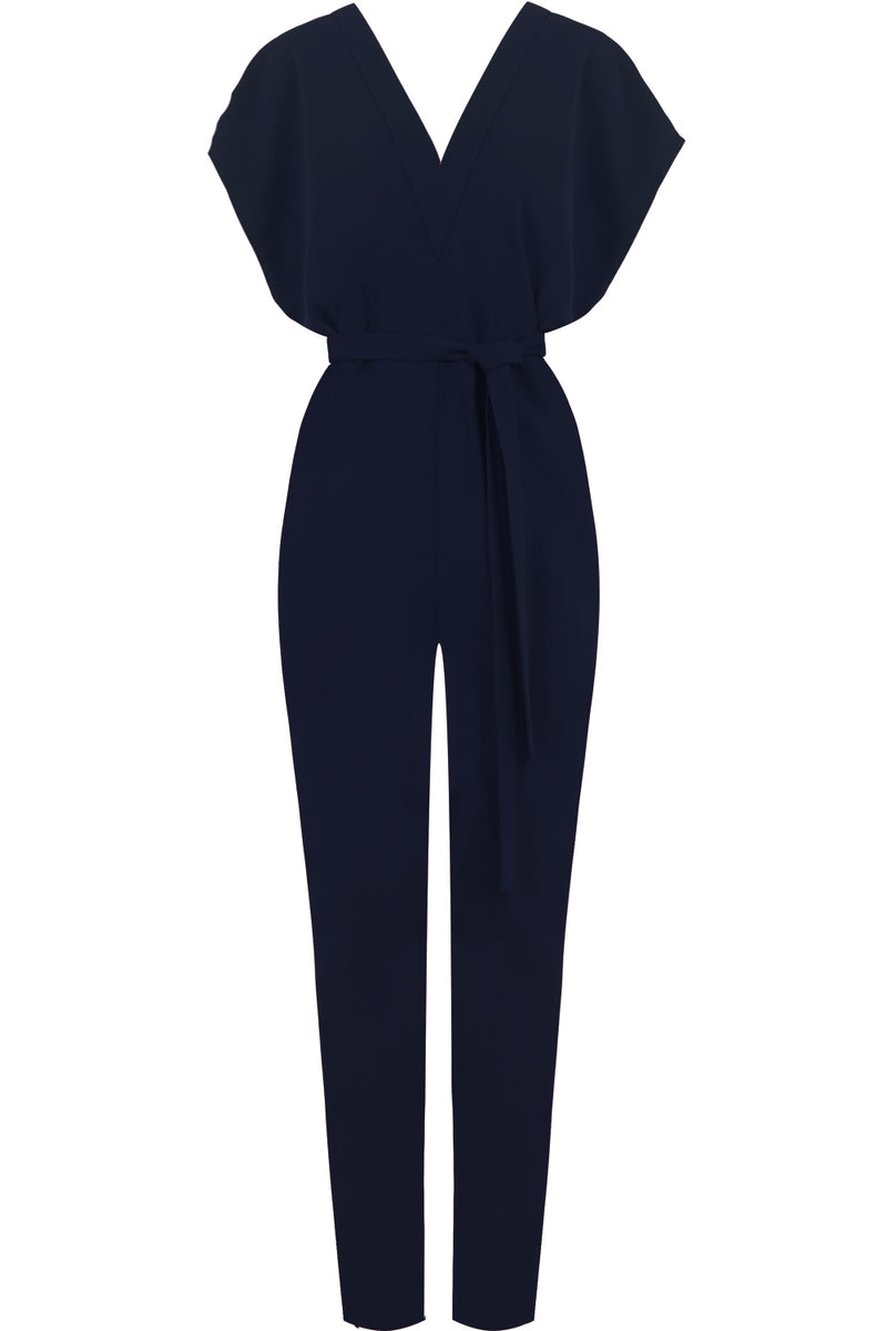 FLUID EASY V JUMPSUIT NAVY