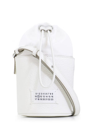 MINI CYLINDER BUCKET BAG WHITE