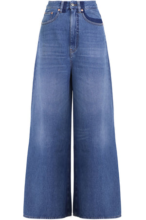 WIDE LEG JEANS BLUE DENIM