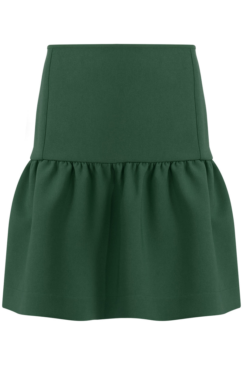 TISSUE MINI PEPLUM SKIRT KHAKI