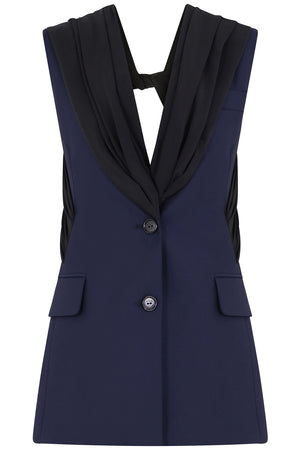 TWIST BACK TAILORED VEST NAVY