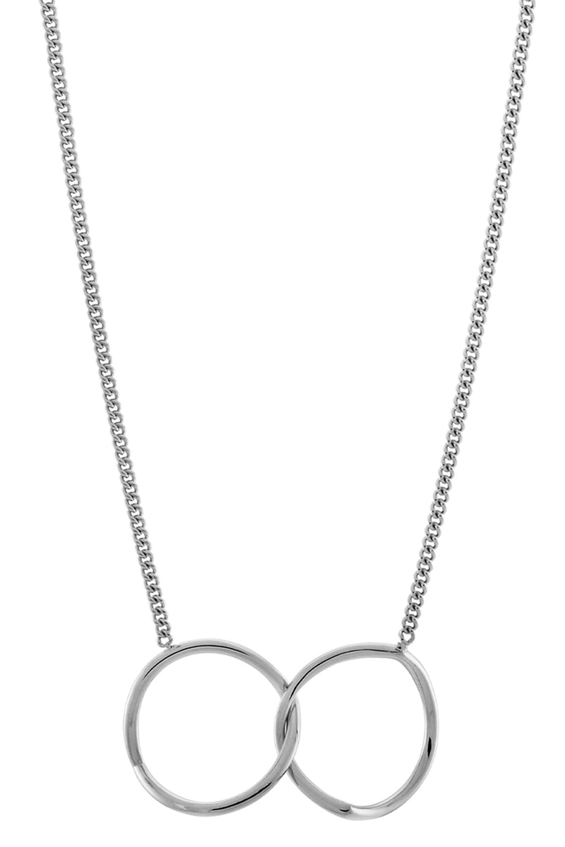 INVERTED ETERNITY NECKLACE SILVER