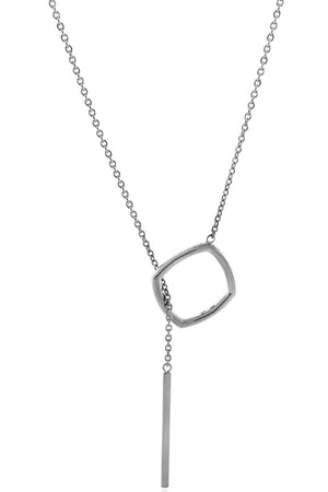 ACCENT Y NECKLACE SILVER