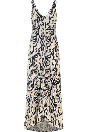 ANIMAL PRINT MAXI DRESS S/LESS MULTI