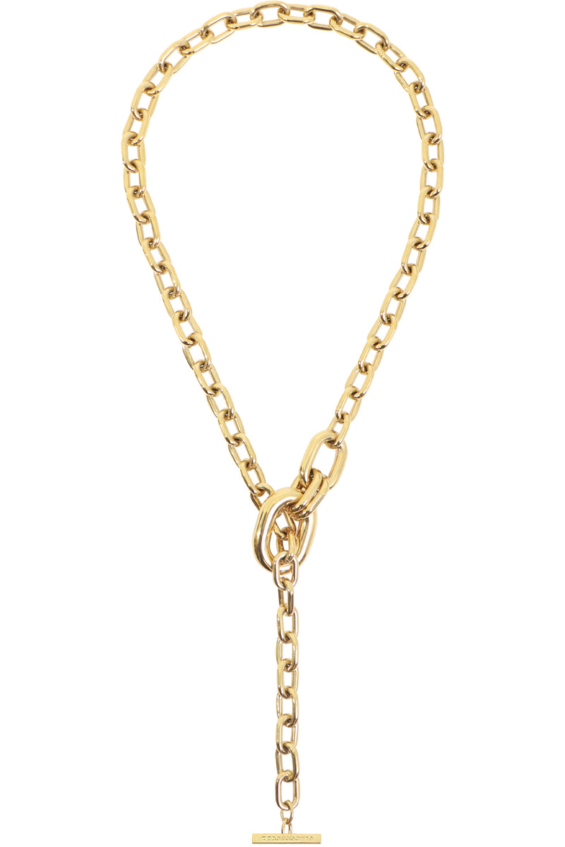 CHAIN LINK ADJUSTABLE PENDANT GOLD