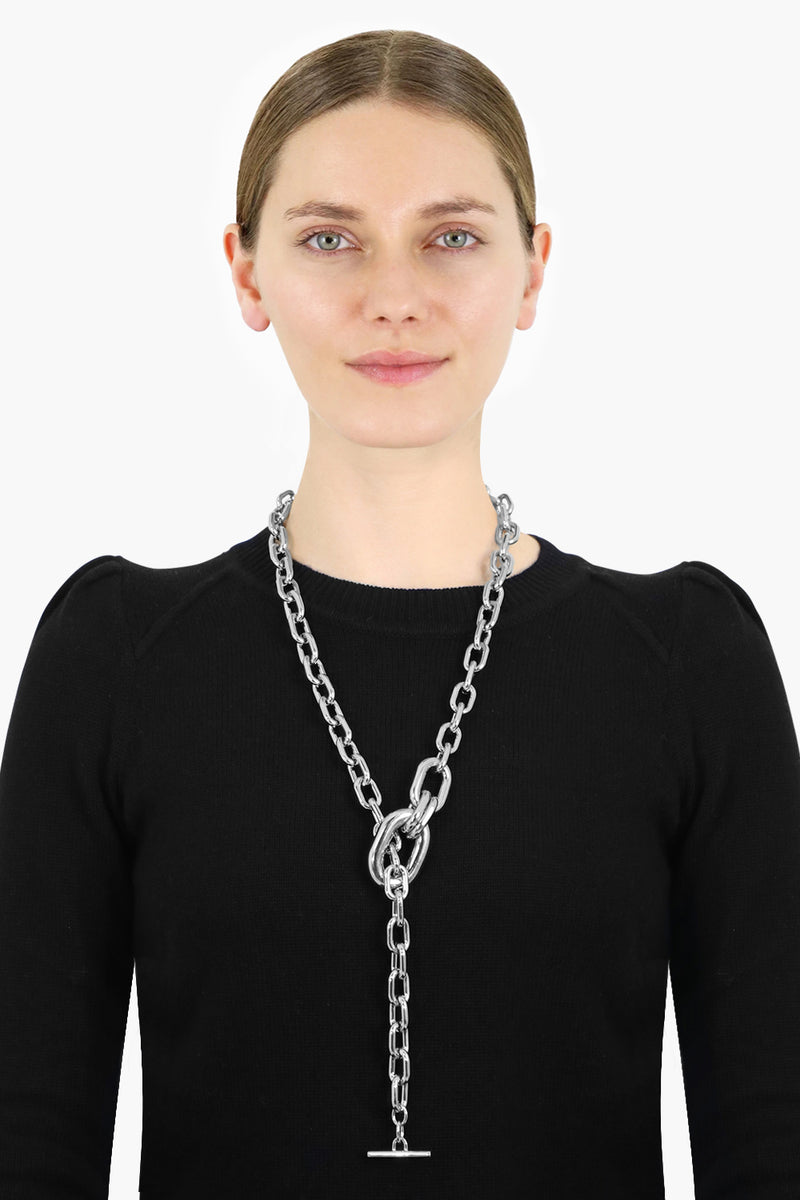 CHAIN LINK ADJUSTABLE PENDANT SILVER