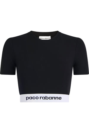 LOGO CROPPED T-SHIRT S/S BLACK