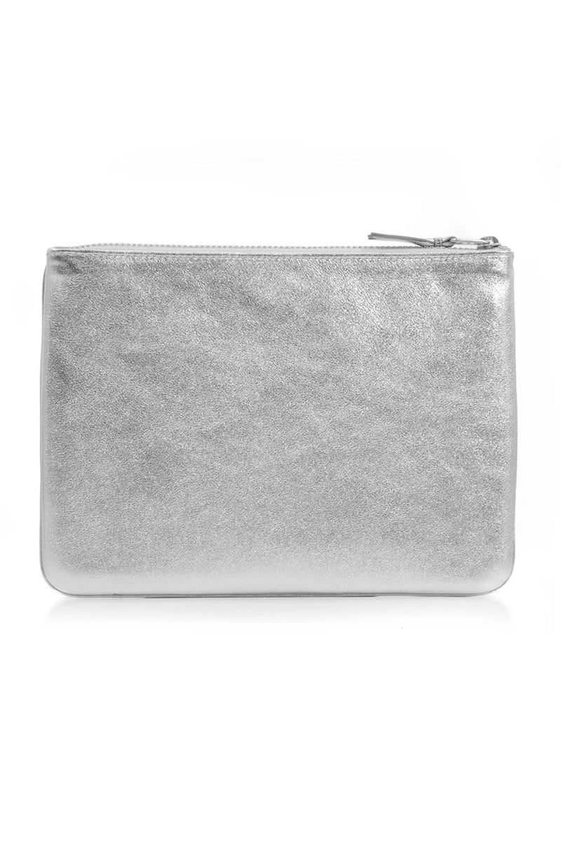 CLASSIC LEATHER POUCH SILVER