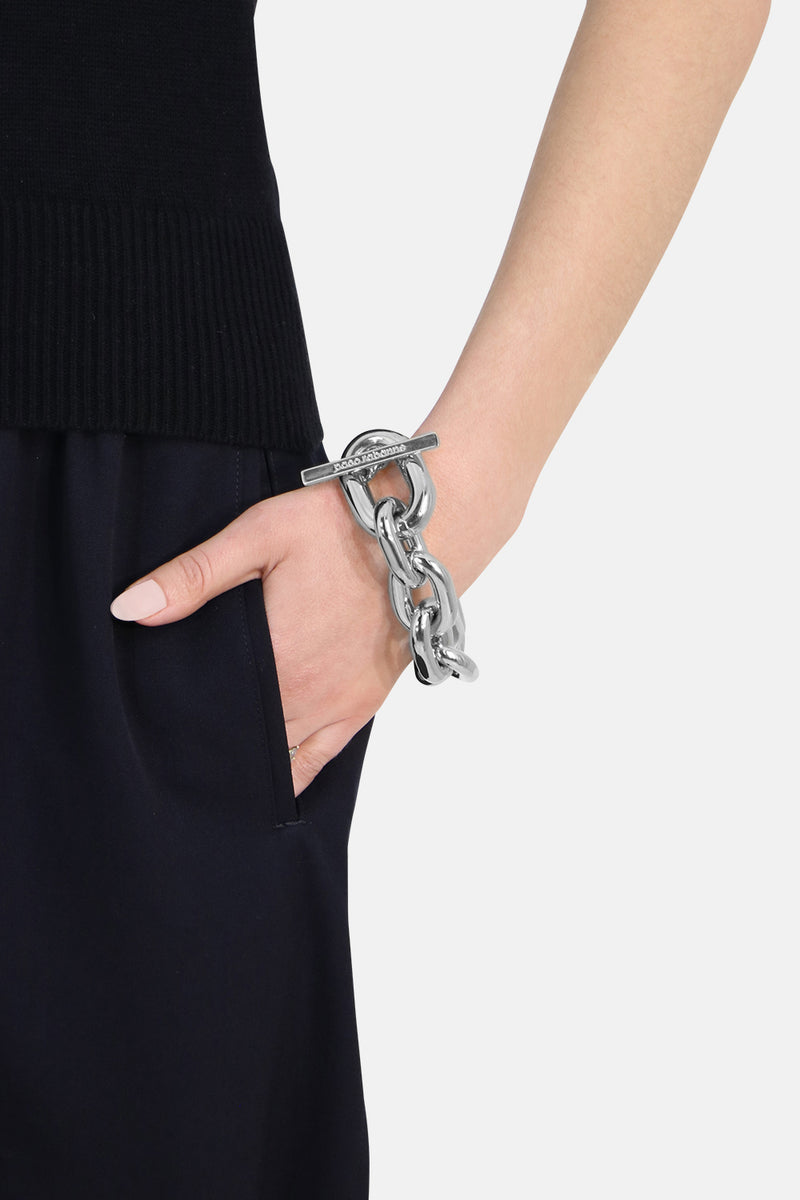 CHAIN LINK CHUNKY BRACELET SILVER