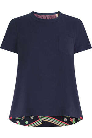 ARCHIVE PRINT T-SHIRT S/S NAVY