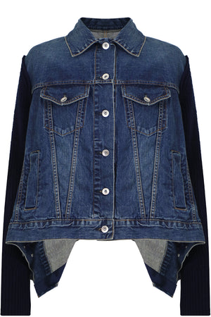 KNIT DENIM JACKET INDIGO