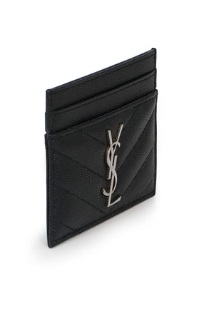 MONOGRAMME QUILTED CARDHOLDER BLACK/SILVER