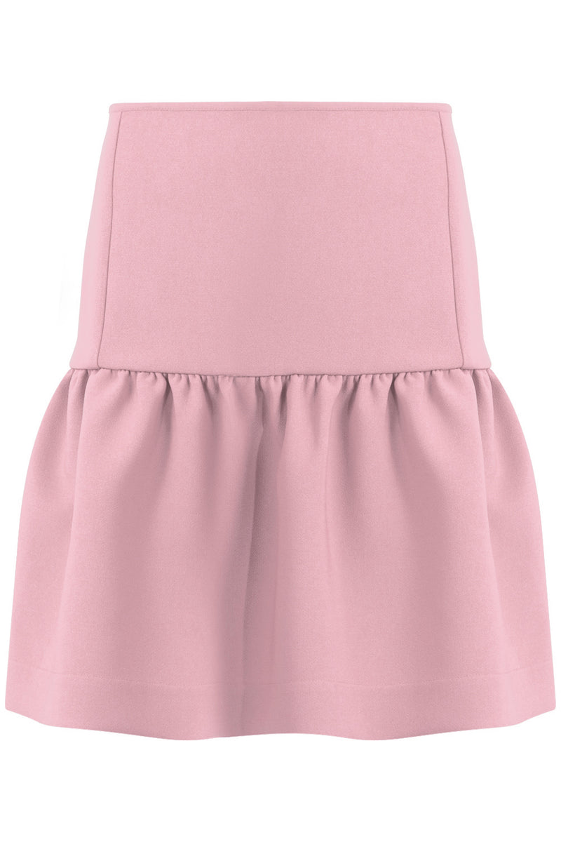 TISSUE MINI PEPLUM SKIRT PINK