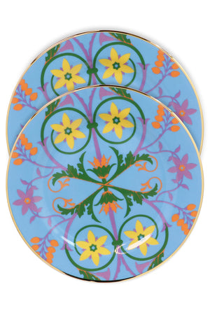 STELLA ALPINA DESSERT PLATES SET OF 2 BLUE