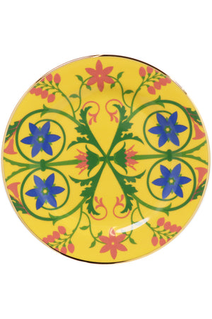 STELLA ALPINA DESSERT PLATES SET OF 2 YELLOW