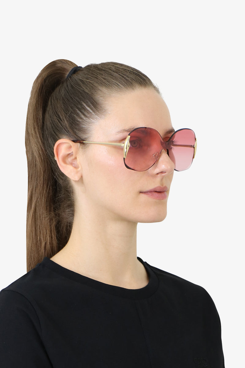CURTIS METAL SUNGLASSES GOLD/PINK