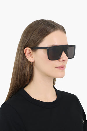 364 MASK SUNGLASSES SHINY BLACK