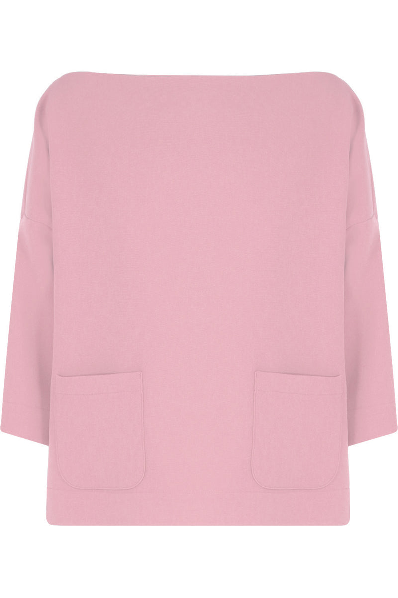 TISSUE SWING TOP WITH POCKETS 3/4SL PINK