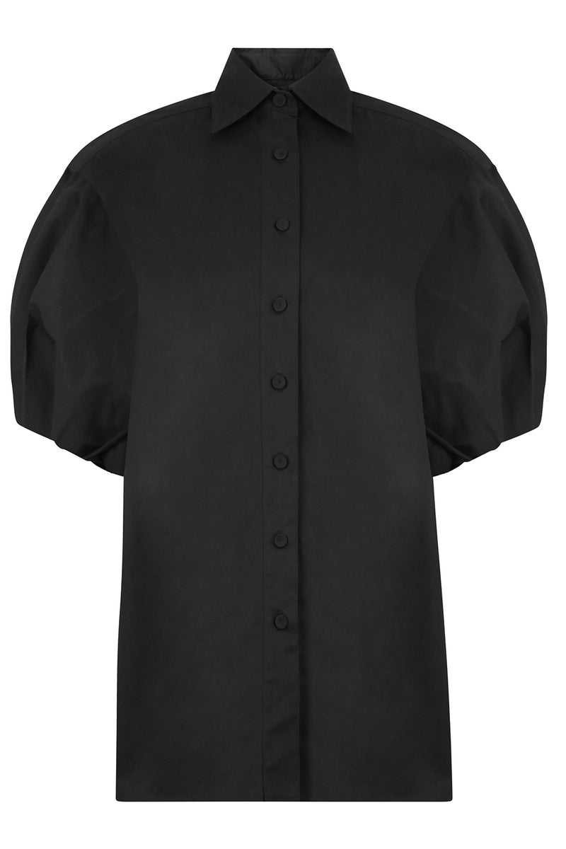 BUTTON UP SHIRT S/S BLACK