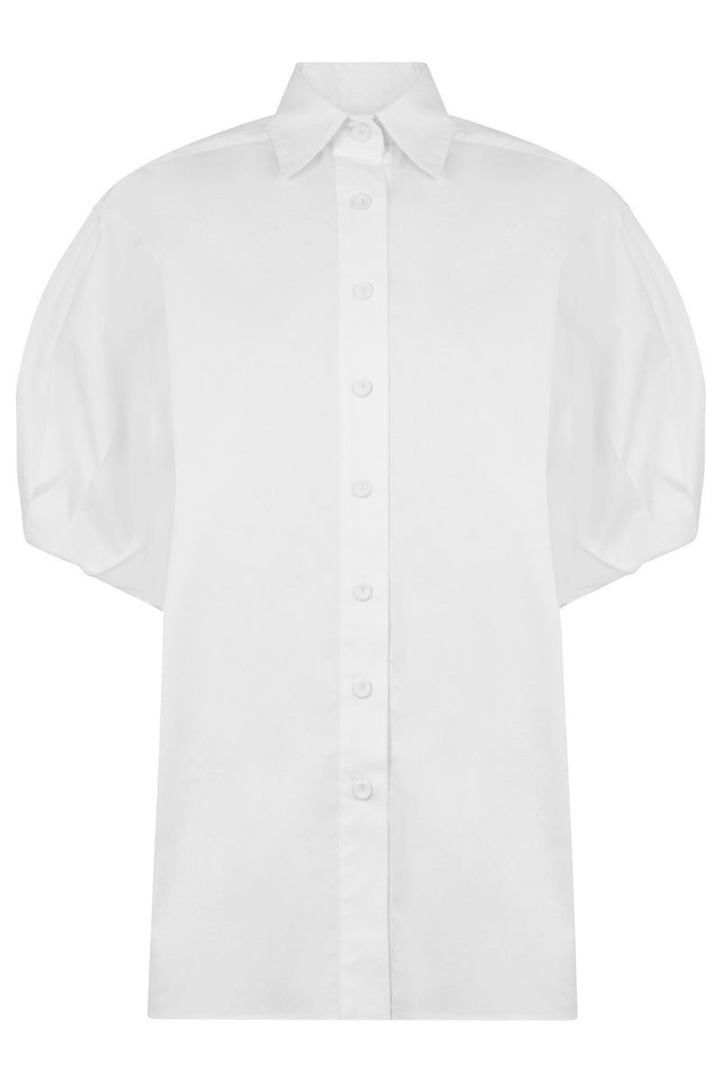 BUTTON UP SHIRT S/S WHITE