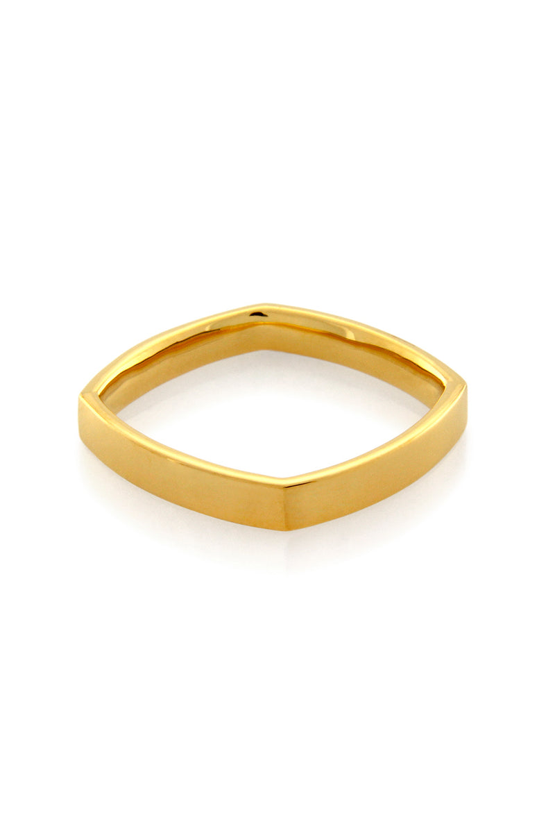 ACCENT THICK BOYFRIEND RING GOLD