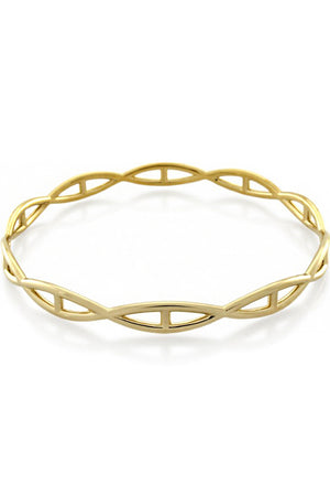 HELIX ROUND BANGLE GOLD