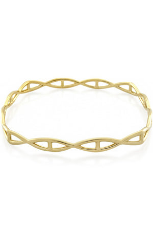 HELIX SQUARE BANGLE GOLD
