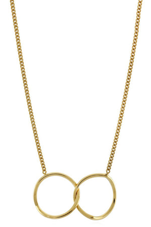 INVERTED ETERNITY NECKLACE GOLD