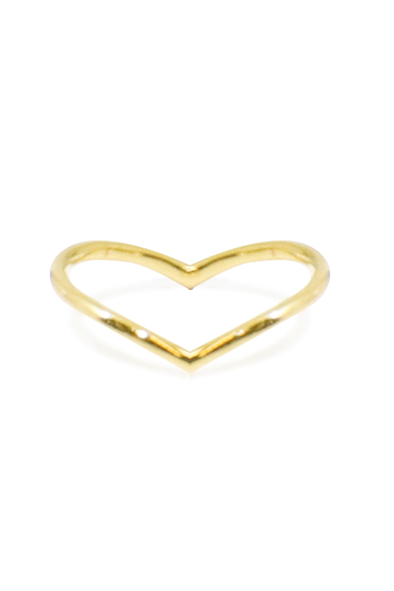 INVERTED V RING GOLD