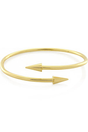 TWO POINT TUBE BANGLE GOLD