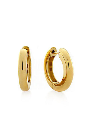 TUBE HUGGIE EARRINGS 11MM GOLD