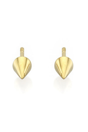 SINGLE POINT STUD EARRINGS GOLD