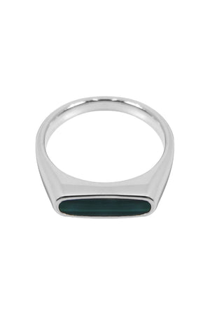 MARIO RING MALACHITE SILVER