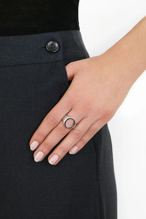 OPEN OVAL RING SILVER